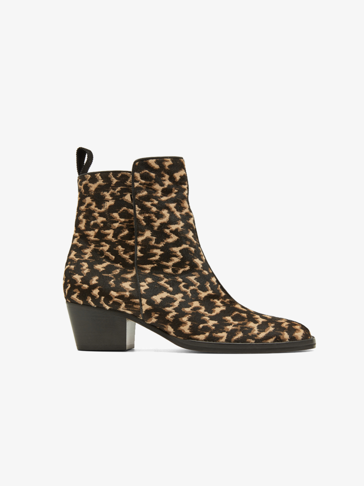 TURTLE SHELL-PRINT ANKLE BOOTS