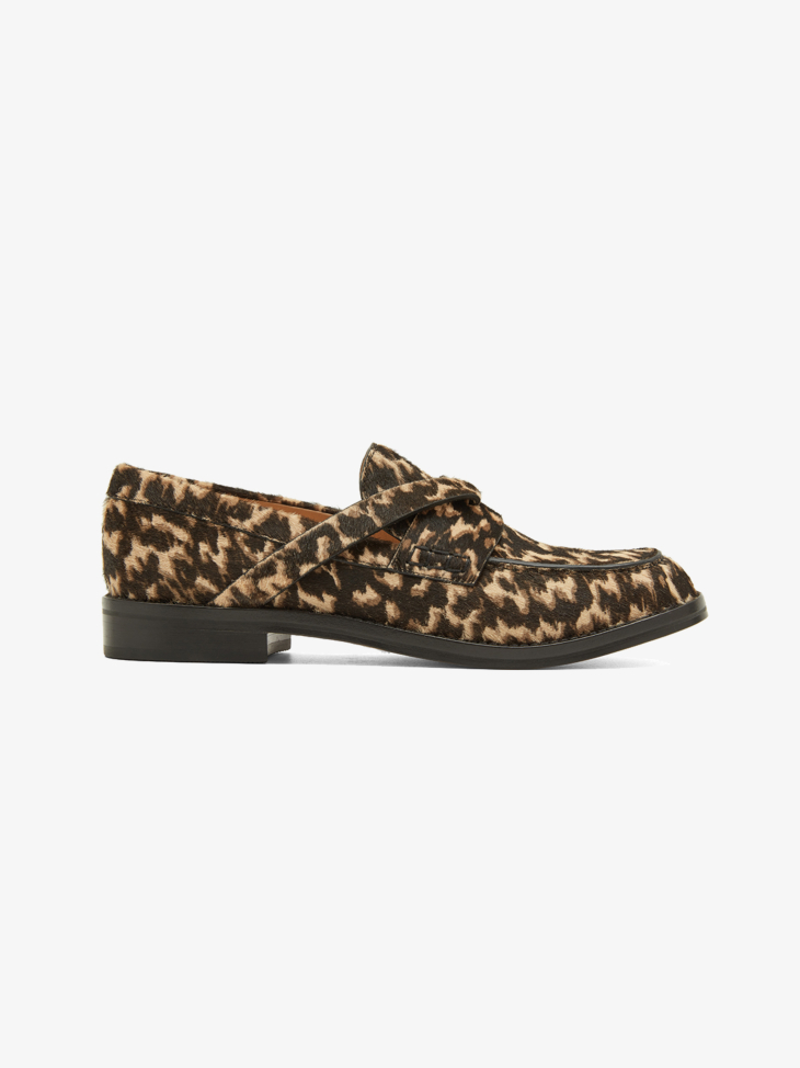 TURTLE SHELL-PRINT LOAFERS