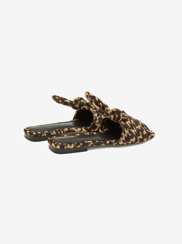KNOT LEATHER MULES