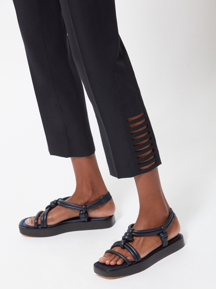 RIVERA CROPPED WOOL TROUSERS