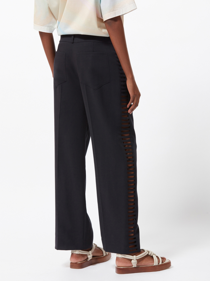 LEE LADDERED WOOL TROUSERS