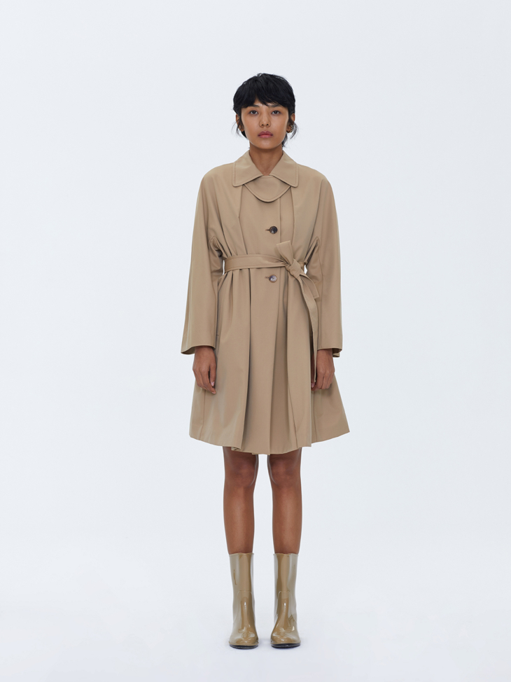 CAPED TRENCH COAT