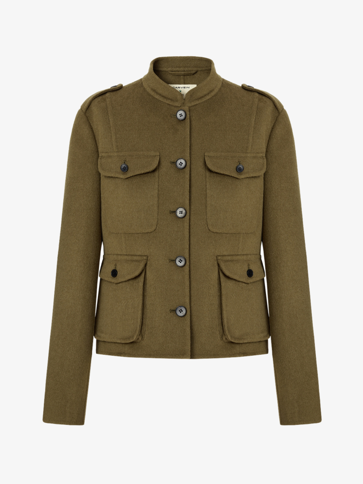 OFFICER'S JACKET IN SILK AND WOOL BLEND