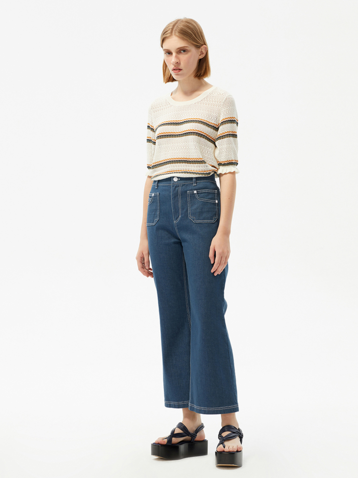 MILLY DENIM TROUSERS
