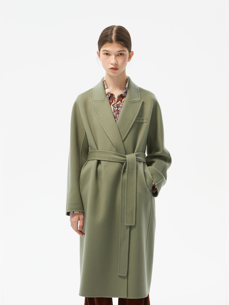 LIAM CASHMERE AND WOOL BELTED COAT