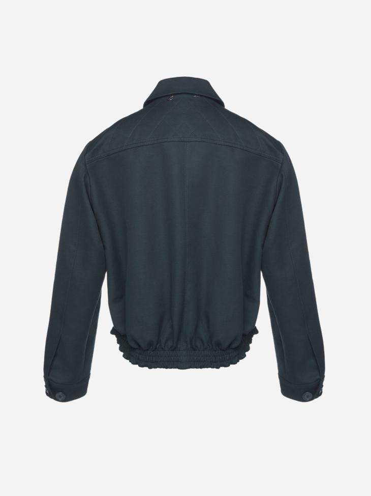 Slub Cotton Quilted coat