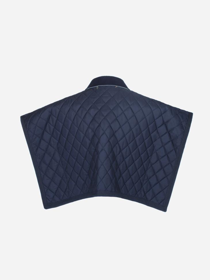 Sleeveless cape-like quilted jacket