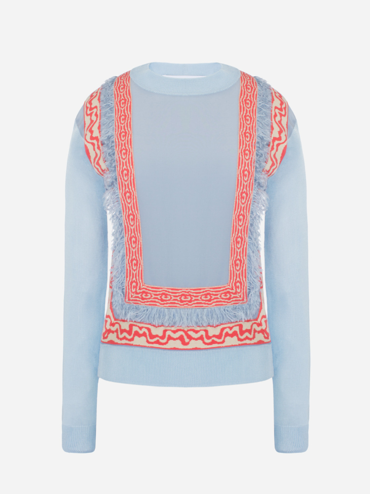 Lightweight Fringe Sweater