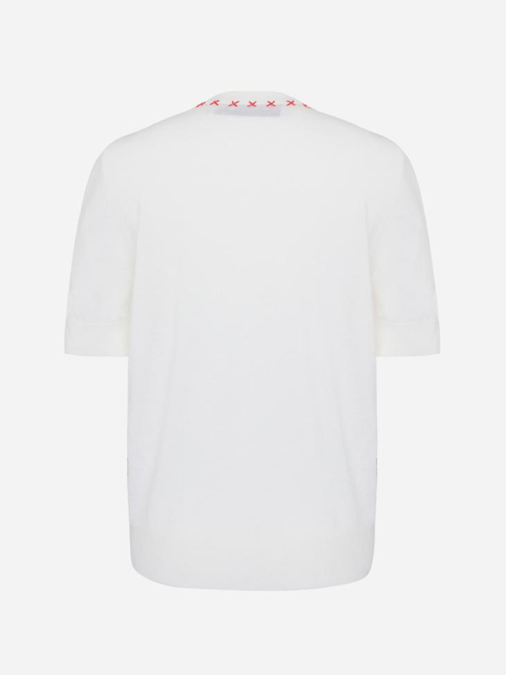 Merino Silk Short sleeves sweater with