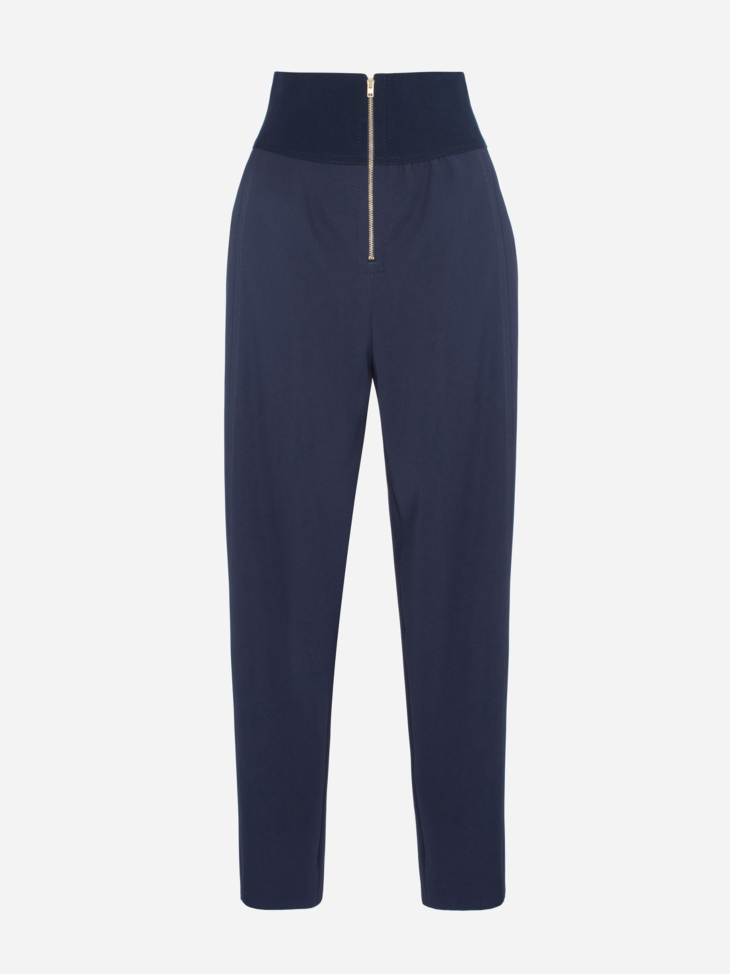 Ribbed Zipper Trousers
