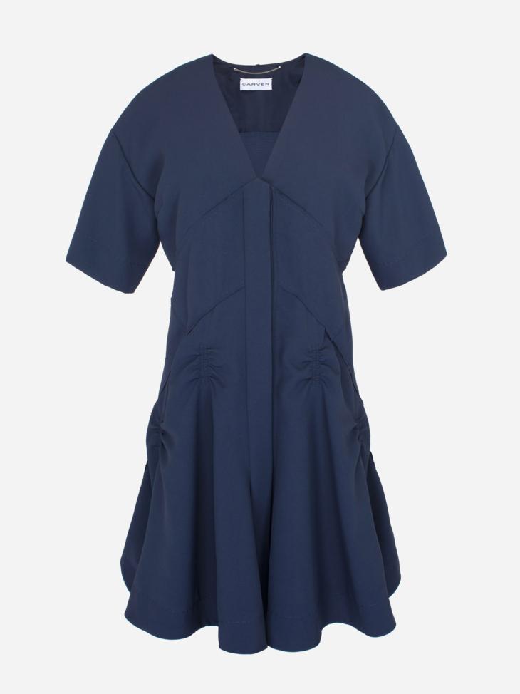 Japanese Canvas Mini Dress