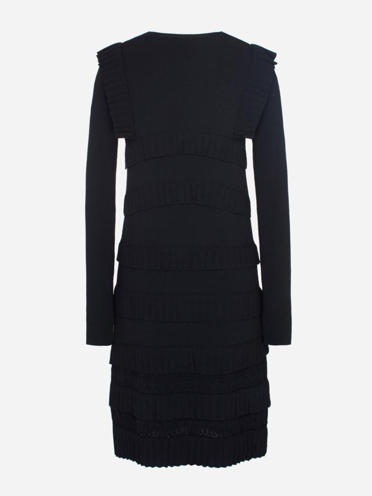 Ribbed Ruffle Dress