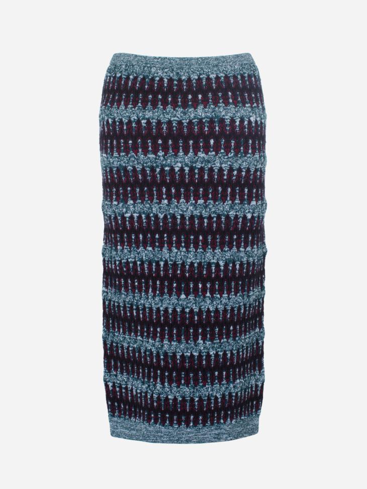 Zig Zag Jacquard Skirt