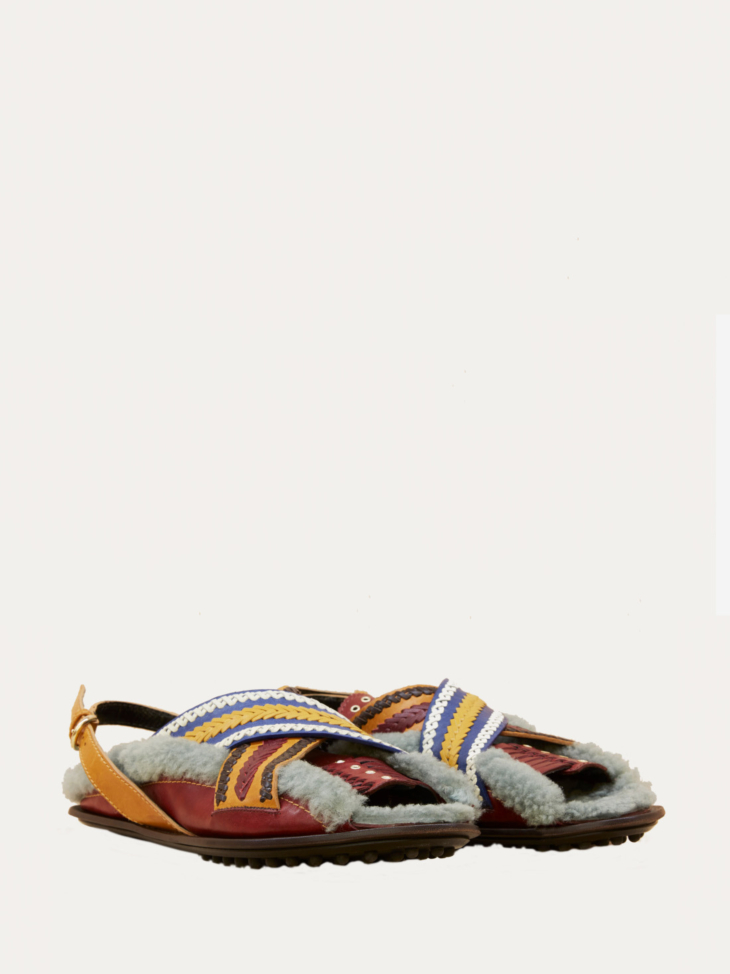 Incas shearling Leather Sandals