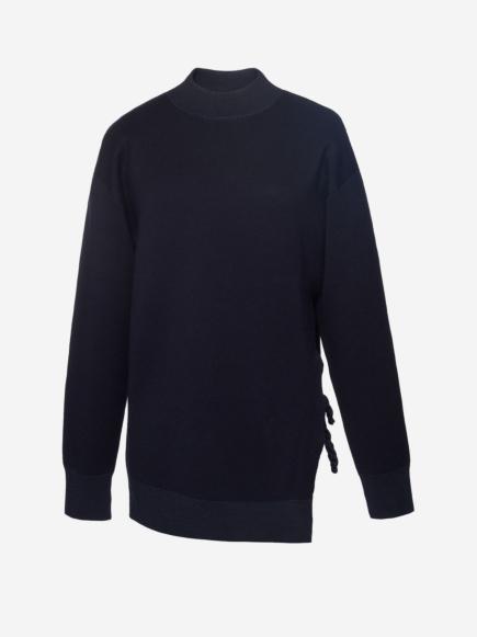 Oversized Merino Wool Chain Sweater